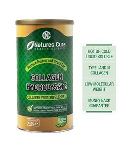 Collagen Powder Hydrolysed Peptides Protein Dietary Supplement Unflavored 450g