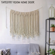 Boho Cotton Macrame Wall Hanging Tapestry Curtain Wedding Backdrop Home Decor