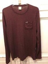 Hollister cooles Langarm T-Shirt T Shirt Gr. M Rot 60% Baumwolle 40% Polyester