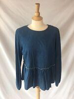 2f326ae12247a8 Universal Thread Women s Denim Chambray Top Long Sleeve Blouse Target Peplum