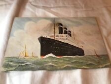 RMS Belgenland  White Star Line Cruise Ship  Post Card Vintage