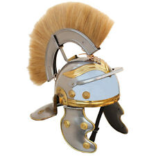 Imperial Roman Centurion 20 Gauge Helmet with Blonde Plume