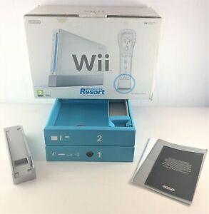 Nintendo Wii Sports Resort Console Empty Box + Insert Trays + User Manuals