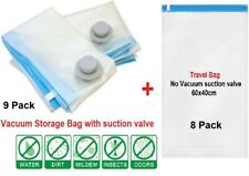 17 PACK LARGE Space Saver Bags Storage Bag Compress Vacuum Seal Organizer Travel