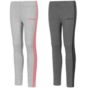 adidas Essentials 3 Stripes Mädchen Sport Freizeit Fitness Kinder Leggings neu