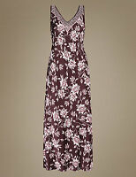 SIZE 16 CHOCOLATE FLORAL NIGHTDRESS MARKS AND SPENCER