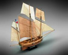 Mamoli Le Coureur French Lugger 1776 1:54 MV38 Model Boat Kit
