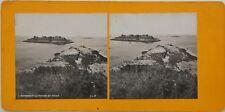 Rothéneuf El Roca el monje Bretaña Francia Foto Estéreo Vintage Analógica