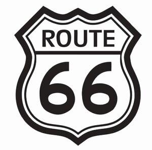 Route 66 Vinyl Die Cut Car Decal Sticker - FREE SHIPPING