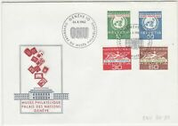 Switzerland 1962 Museum Palace of Nations ONU Slogan FDC Stamps Cover Ref 25407