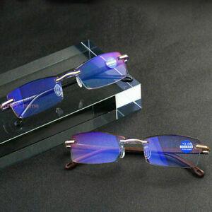 Ultralight Rimless Reading Glasses Anti Blue Light Lens +1+1.5+2+2.5+3+3.5+4.0