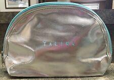 TALIKA Makeup bag Silver and Teal NWOT