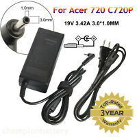 """65W AC Adapter Charger Power Supply Cord For Acer 720 C720P 11.6"""" Chromebook"""