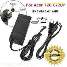 AC Adapter Charger 19V 3.42A For Acer Chromebook 15 14 13 11 R11 CB3-111 C720 G
