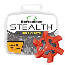 NEW Softspikes Stealth Golf Shoe Cleats PINS Red/Black Fits Footjoy Nike Adidas