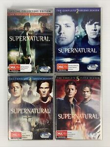 Supernatural Complete Seasons 1 2 4 5 DVD R4 TV Show FREE TRACKED POST