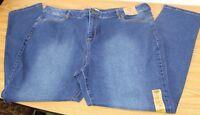 "NWT Blue Route 66 Size 36"" Denim Stretch Jeans Slim Fit Skinny Stretchy"
