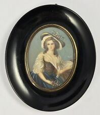 Lovely Antique Style Miniature Framed Painting Of A Woman
