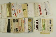 Vintage Lot Paper Postcards Us Advertising Ham Radio Operator Call Signs X7