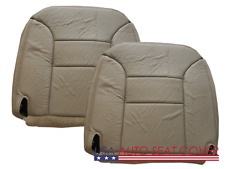 96-99 Chevy 1500-2500-3500 GAS  D. P. Bottom Leather seat cover Med Neutral TAN