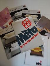 Möbel italienisches Design META Kataloge Messekataloge Mappe 80er Jahre
