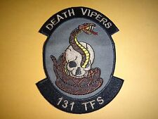 USAF 131st Tactical Fighter Squadron DEATH VIPERS Patch