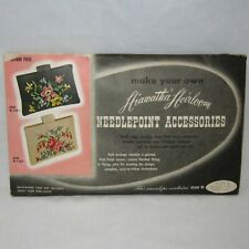 Vintage 1949 Hiawatha Heirloom Needlepoint Kit for In-Hand Purse Floral Design