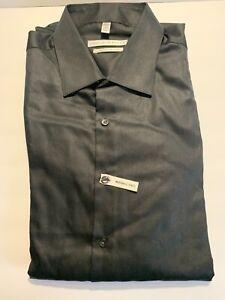 NEW GEOFFREY BEAN MEN'S BUTTON DOWN LONG SLEEVE BLACK DRESS SHIRT SZ 17 34/35