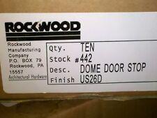 5MM16 ROCKWOOD DOME DOOR STOP (FLOOR TYPE), BRUSHED ALUMINUM, #442, BOX OF 10