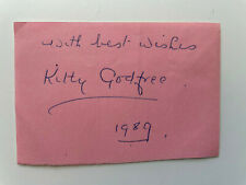 More details for kathleen 'kitty' godfree - tennis multiple champion 1920s - original autograph