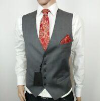 Ted Baker London Debonair Mens Waistcoat Modern Fit Grey Wool 38R New RRP£120