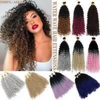 "14"" Ombre Water Wave Braids Weaving Twist Crochet Deep Wavy Curly Hair Extension"