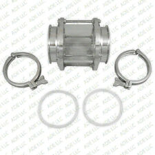"""4"""" PROTECTED BOROSILICATE TRI CLAMP SIGHT GLASS WITH GASKETS AND TRI CLAMPS"""