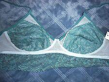 21abd94a32637 Size XS Gilligan   O Malley Women s Longline Lace Semi Sheer Wire Free  Bralette