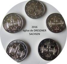 ALLEMAGNE 2016 commémorative EGLISE DE DRESDNER-SACHSEN