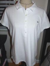 VINEYARD VINES Women's Shoreline Pique Knit Polo WHITE CAP Size X-LARGE NWT