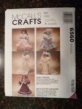 "McCalls 6560 Victorian Doll Dresses (13"" 14"" & 16"" dolls) 1993 Pattern Uncut"