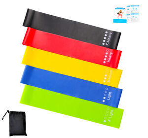 Resistance Bands Loop Kit Home Gym Fitness Latex Exercise Band Set or Singles