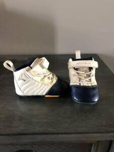 Boys Nike Jordan XIX 19 RARE 2004 Navy Gold Toddler Baby Vintage Retro 1c Shoes