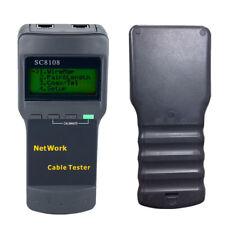 SC8108 Cat5 RJ45 Network LAN Length Phone Cable Tester Tool 4 Far End Test Jack