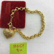 Gold Authentic bracelet 18k saudi gold 7.5 inches bracelet