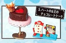Re-ment miniature Alice wonder sweets  queen of hearts chocolate cake rare