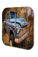 Wall Clock Vintage Car Decoration  rusted in the forest Acryl Acrylglass