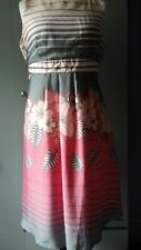 Ladies Summer Dress Sz 16 George pink mix party occasion worn once peach mix