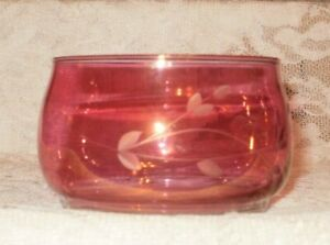 Princess House Heritage Open Stacking Candy Dish Pink   (#1493)