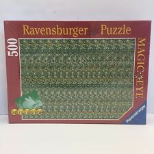 Vtg Ravensburger 500 Pc Jigsaw Puzzle Magic Eye 3D Illusion Bunny Rabbit 1994