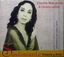 CD CLAUDIA MALUENDA & CANCION LADORE - sentimiento protesta y amor, neu - ovp