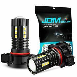 JDM ASTAR 2x PSX24W 2504 1600LM Bright SMD LED Fog Light 6000K Xenon White Bulbs
