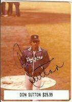 Don Sutton Signed 3.5 X 5 Photo Auto Autograph Dodgers