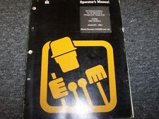 International Harvester IH TD20E Crawler Dozer Tractor Owner Operator Manual